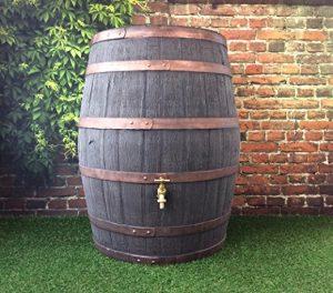 Jacobean Dark Oak Hogshead Ale Barrel With Brass Tap