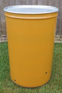 Garden Incinerator Yellow Bin