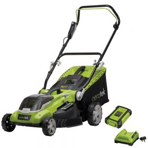 Aerotek Cordless Lawnmower 40V Lithium-Ion Battery & Charger Included